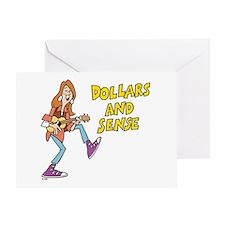 Dollars and Sense Greeting Card