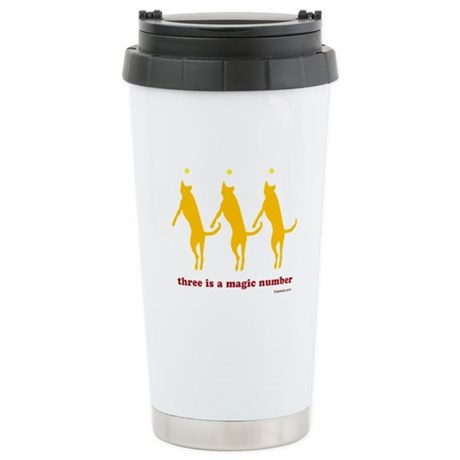Magic Number 3 Stainless Steel Travel Mug