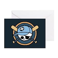 Baseball Pirate -Boy Greeting Cards (Pk of 10)