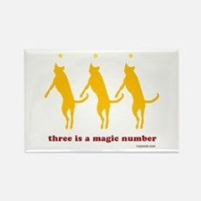 Magic Number 3 Rectangle Magnet