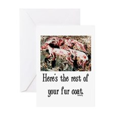 Rest of Your Fur Coat Greeting Card