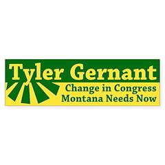 Tyler Gernant for Congress bumper sticker