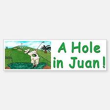 """""""A Hole in Juan"""" Bumper Bumper Sticker"""