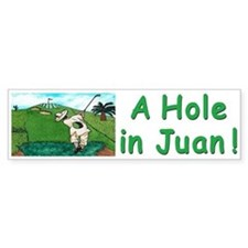 """A Hole in Juan"" Bumper Sticker"
