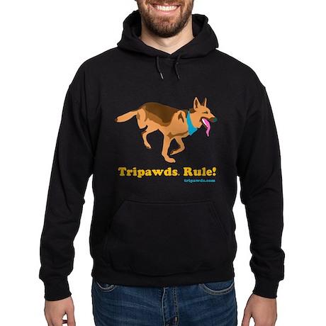 Tripawds Rule Hoodie (dark)