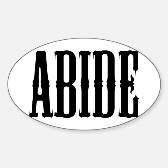 Abide Sticker (Oval)