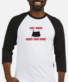 Can I check under your hood? Baseball Jersey