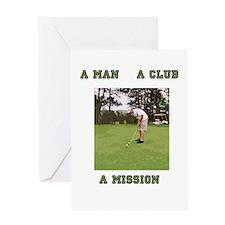 A Man A Club A Mission Greeting Card