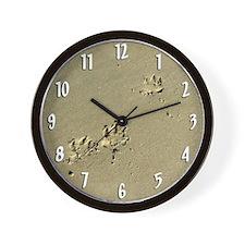 Tripawd Paw Prints Wall Clock