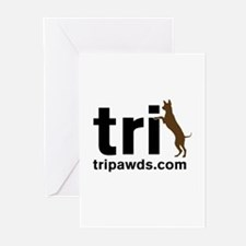Tri Nation Standing GSD Greeting Cards Pk of 10