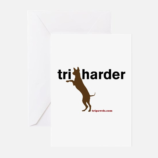 Tri Harder Greeting Cards (Pk of 10)