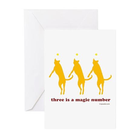 Magic Number 3 Greeting Cards (Pk of 10)