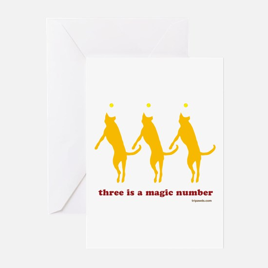 Magic Number 3 Greeting Cards (Pk of 10)