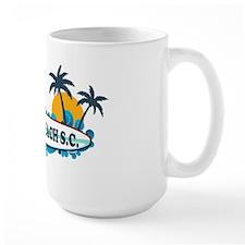 Surfside Beach - Surf Design. Coffee Mug