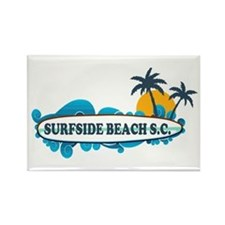 Surfside Beach - Surf Design. Rectangle Magnet