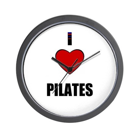 I LOVE PILATES Wall Clock