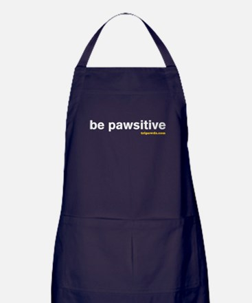 Be Pawsitive Apron (dark)