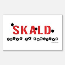Skald Drive By Rectangle Decal