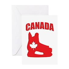 Canada Hockey Skate Greeting Card