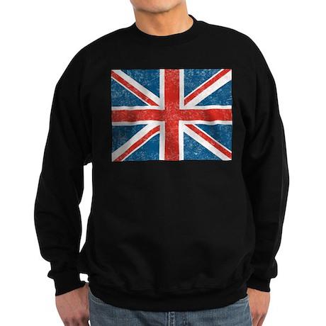 Vintage Union Jack Flag Sweatshirt (dark)
