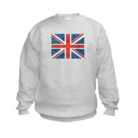 Vintage Union Jack Flag Kids Sweatshirt