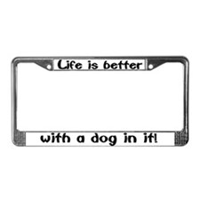 """Dog"" License Plate Frame"