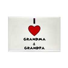 I LOVE GRANDMA AND GRANDPA :) Rectangle Magnet