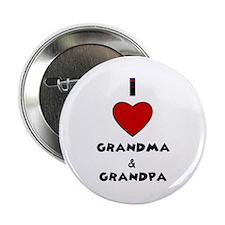 """I LOVE GRANDMA AND GRANDPA :) 2.25"""" Button (100 pa"""