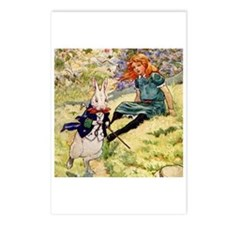 A RABBIT RUNS BY ALICE Postcards (Package of 8)