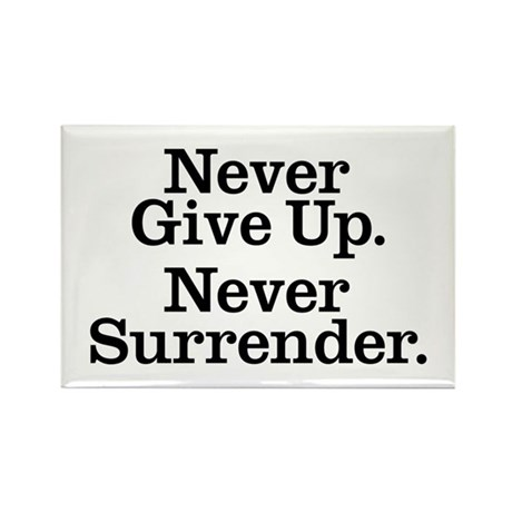 Never Give Up Rectangle Magnet (100 pack)