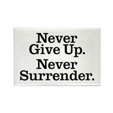 Never Give Up Rectangle Magnet (10 pack)