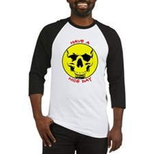 Smiley Face Skull Nice Day Baseball Jersey