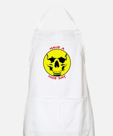 Smiley Face Skull Nice Day BBQ Apron