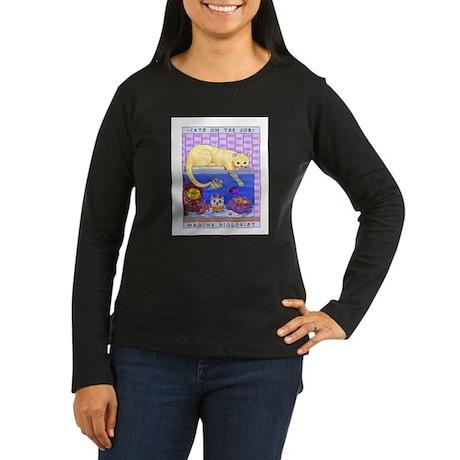 Marine Biologist Women's Long Sleeve Dark T-Shirt