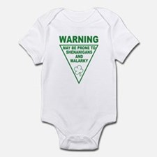 Warning Shenanigans and Malar Infant Bodysuit