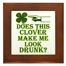 Does this clover make me look Framed Tile