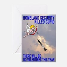 Homeland Security Killed Cupi Greeting Cards (Pack