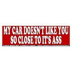 Get off My Ass Anti-Tailgater Bumper Sticker