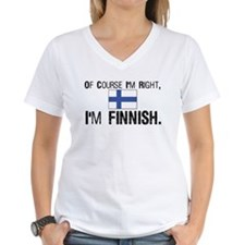 Of course I'm Right Finnish Shirt