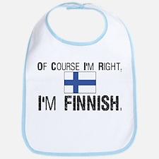 Of course I'm Right Finnish Bib