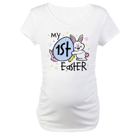 Bunny Chickie 1st Easter Maternity T-Shirt