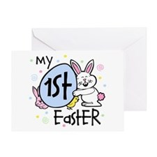 Bunny Chickie 1st Easter Greeting Card