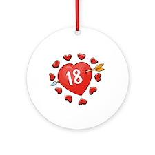 18th Valentine Ornament (Round)
