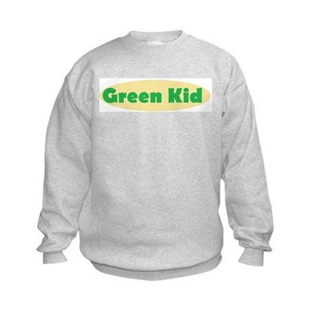 Green Kid Kids Sweatshirt