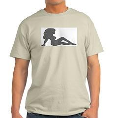 Sexy Women Silhouette Ash Grey T-Shirt