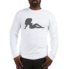 Sexy Women Silhouette Long Sleeve T-Shirt