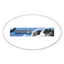 Theme park uk Oval Decal