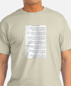 T-Shirt with Jabberwocky in mirror writing