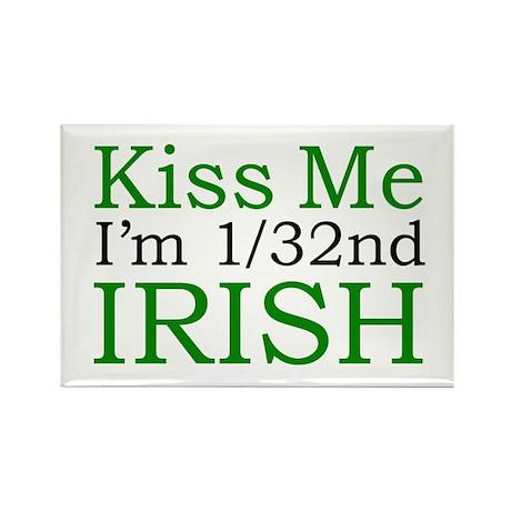 Kiss Me I'm 1/32nd Irish Rectangle Magnet