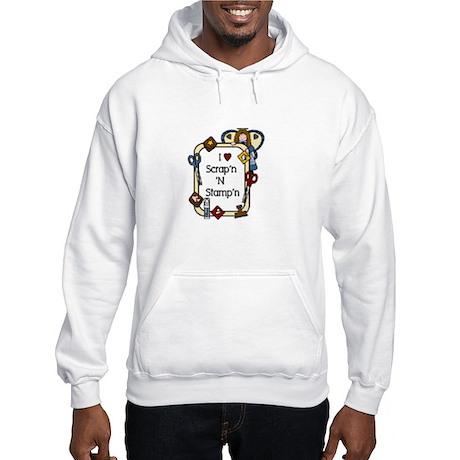 I love scrapn n stampn angel Hooded Sweatshirt